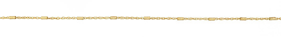 Zola Elements Satin Hamilton Gold (plated) Crosshatched Bar & Rope Chain