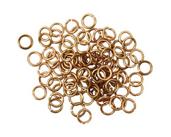 Artistic Wire Non-Tarnish Brass Chain Maille Jump Ring 4.37mm, 18 gauge