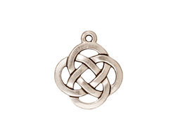 TierraCast Antique Silver (plated) Celtic Open Round Pendant 18x20mm