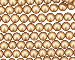 Hamilton Gold Shell Pearl Round 6mm