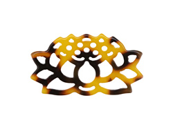 Zola Elements Tortoise Shell Acetate Openwork Lotus Focal 33x18mm