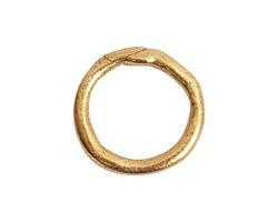 Nunn Design Antique Gold (plated) Large Organic Hoop 21mm