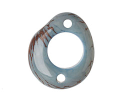 Tagua Nut Stonewashed Open Slice LInk 40-48x32-40mm