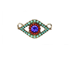 Zola Elements Antique Gold (plated) Mermaid Eye Pendant 26x14mm