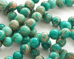 Emerald Impression Jasper Round 4-5mm
