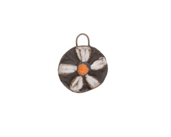 Gaea Ceramic Daisy Charm 14x17mm