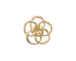 Zola Elements Satin Gold (plated) Open Hibiscus 20mm