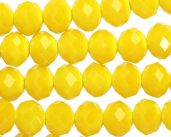 Mustard Crystal Faceted Rondelle 10mm