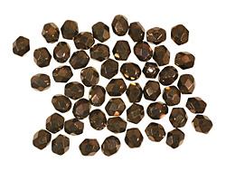 Czech Fire Polished Glass Dark Bronze Round 4mm