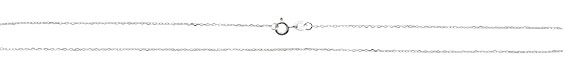 """Sterling Silver Finished Tiny Oval Cable Chain 18"""""""