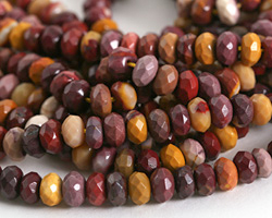 Mookaite Faceted Rondelle 8mm