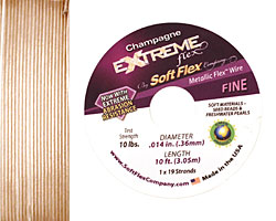 "Soft Flex Extreme Champagne .014"" (Fine) 19 Strand Wire 10ft."