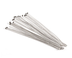 """Antique Silver (plated) Headpin 3"""", 21 gauge"""