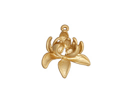 Matte Gold (plated) Bloom Charm 19mm