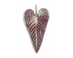 Vintaj Natural Brass Wildwood Leaf 25x50mm