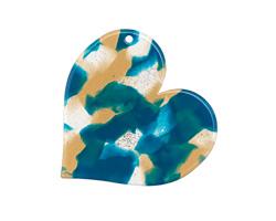 Zola Elements Tide Pool Acetate Heart Focal 35mm