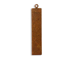 Vintaj Artisan Copper Rectangle Tag Altered Blank 8x41mm