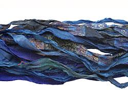Indigo 100% Silk Sari Ribbon