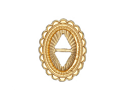 Zola Elements Matte Gold (plated) Southwest Concho 19x25mm