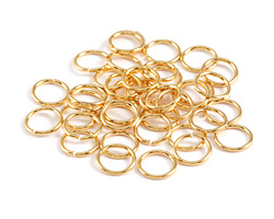 Gold (plated) Round Jump Ring 6mm, 21 gauge