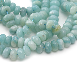 Amazonite Faceted Rondelle 10mm