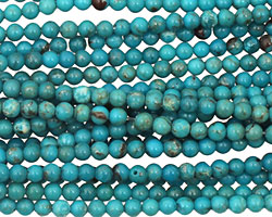 Chinese Turquoise Round 3mm