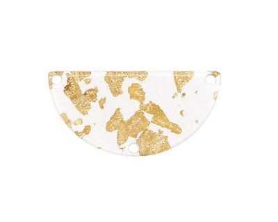 Zola Elements Gold Foil Acetate Half Circle Y-Connector 30x15mm