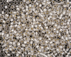 TOHO Permanent Frosted Crystal (with Silver Lining) Round 11/0 Seed Bead