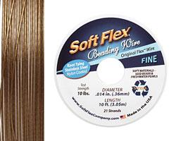 """Soft Flex Golden Bronze .014"""" (Fine) 21 Strand Wire 10ft."""