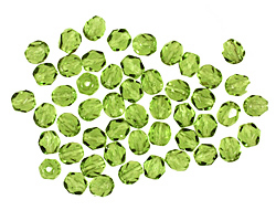 Czech Fire Polished Glass Olivine Round 4mm