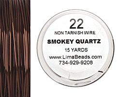 Parawire Smoky Quartz 22 gauge, 15 yards