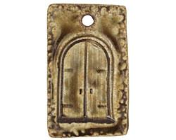 Earthenwood Studio Ceramic Rustic Door Pendant 22x37mm