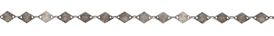 Antique Silver (plated) Diamond Chain