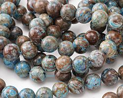Blue Calsilica Jasper Round 10mm