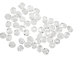 Czech Fire Polished Glass Crystal Round 4mm