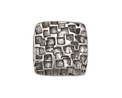 Antique Silver (plated) Fossil Square 10mm Cord Slide 22mm