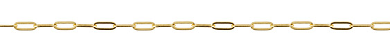 Gold (plated) Paperclip Chain