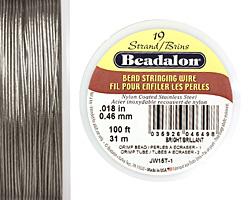 "Beadalon Bright .018"" 19 Strand Wire 100ft."
