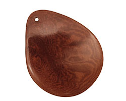 Tagua Nut Dark Brown Groovy Slice 25-35x30-42mm