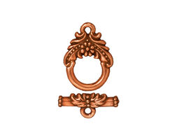 TierraCast Antique Copper (plated) Garland Toggle Clasp 17x12mm, 17mm Bar