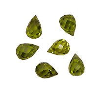 Fern Faceted Teardrop 6x9mm