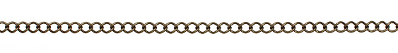 Antique Brass (plated) Curb Link Chain