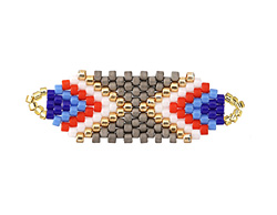 Regatta Hand Woven Focal Piece 36x12mm