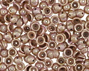 Opaque Rose Gold Topaz Luster Teacup 2x4mm Seed Bead