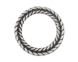 Greek Pewter Braided Ring 29mm