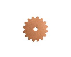 Copper Small Closed Gear 16mm