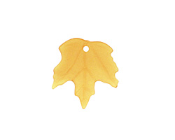 Matte Autumn Gold Lucite Maple Leaf 18x19mm