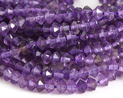Amethyst Tiny Faceted Saucer 3x4mm