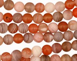 Red & Gray Botswana Agate Round 6mm