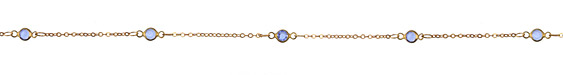 Zola Elements Sapphire Crystals Round Link & Delicate Cable Brass Chain